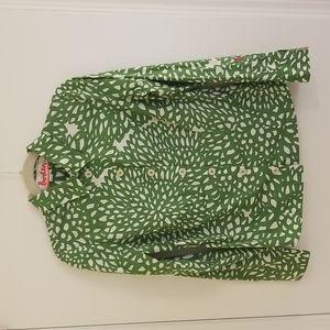 Boden Green & Ivory Floral Buttondown Shirt US 10